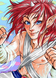Jin, Master of Wind! by lielurr