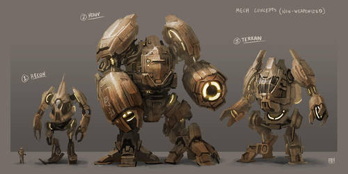 Mech Concepts by DenmanRooke