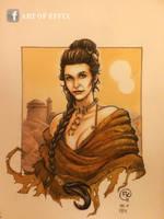 Star Wars Leia slave by effix35