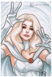Emma Frost Marvel sketch by effix35
