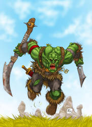 warcraft - ork charge by effix35