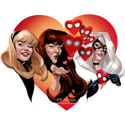 The Amazing Spider-Gals by mcguan