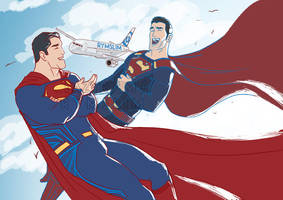 The Supermen of Two Earths by rymslm
