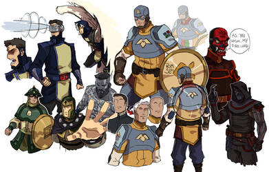 Avatar - MARVEL heroes by rymslm