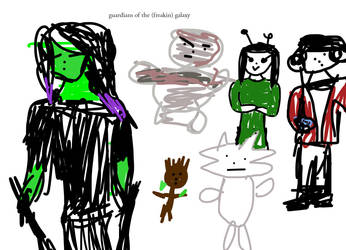MY AWESOME DRAWING SKILLS GOTG by DidoArt12
