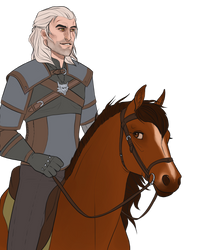 .: Geralt and Roach :. by Shien-Ra