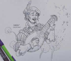 The musician by Shien-Ra