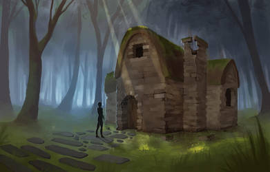 The old cottage by Shien-Ra