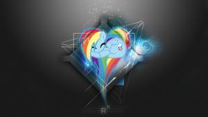 [Space Heart Series] - Rainbow Dash 1920x1080 by forgotten5p1rit