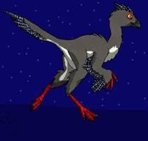 Caudipteryx by BlueFluffyDinosaur