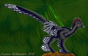 Anchiornis huxleyi by BlueFluffyDinosaur