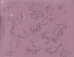 Pokemon Sketches by M0AI