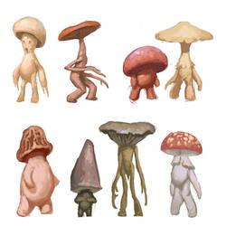 Mushroom Folk by M0AI
