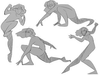 Action Sketches by midnightpages