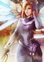 Overwatch Uprising Mercy by vincyWP