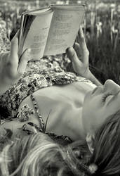 Reading in the Flowers by baravavrova