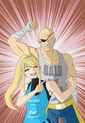 Commission: Samus and Sagat by TykiWife