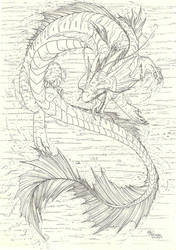 Water Dragon II by FlamSlade