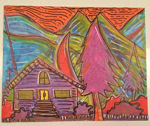 House in the hills by margypargie