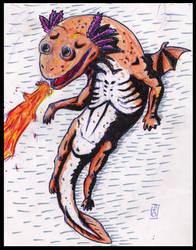 dragon axolotl by deinoscaos