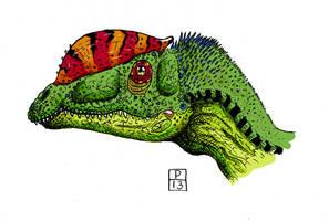 dilophosaurus color by deinoscaos