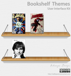 Bookshelf Themes iOS Android UI kit by raditeputut