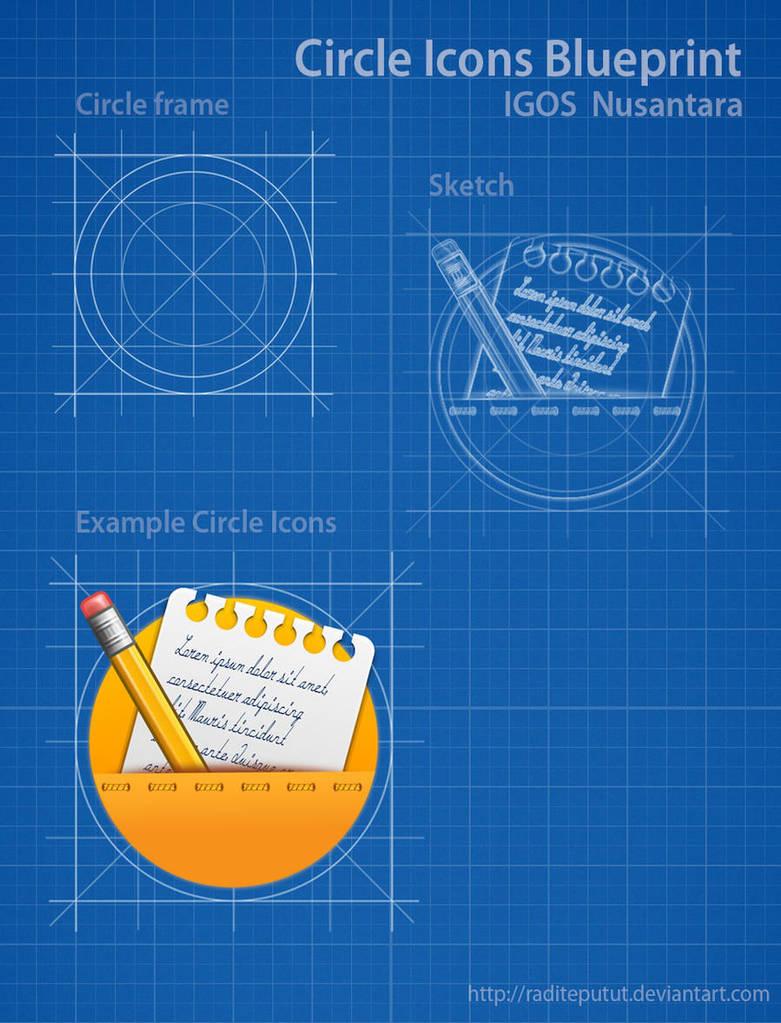 Blueprint Circle Icons by raditeputut
