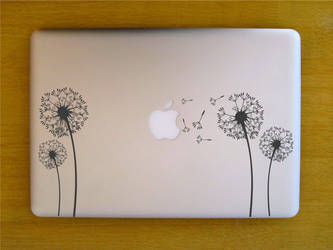 Decal Sticker MacBook Pro NonRetina DadelionFlower by raditeputut