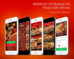 Pomodoro Pizza Sandwiche Order Service Mockup UI by raditeputut