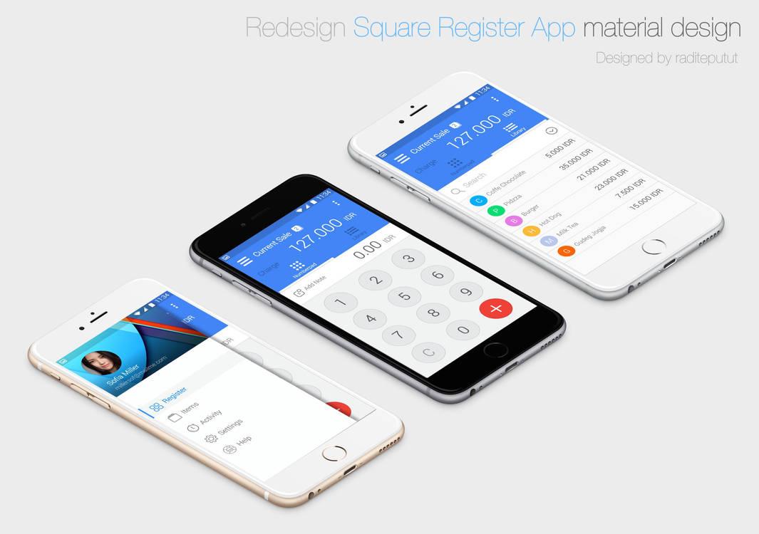 Redesign Square Register App Material Design by raditeputut