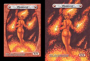 Custom Magic Token #4 - Fire Elemental by JasonRocket