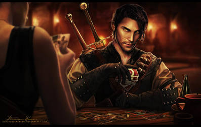 A few rounds of Gwent by DominiqueWesson
