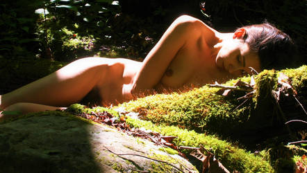 Melissa in the moss by Atrail8Stock