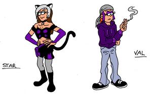 VG Bros Girls: Star and Val by MDKartoons