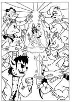 Super Sezer Poster (Inks) by MDKartoons