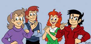 Pieutira - The Four Main Characters (Temporary) by MDKartoons