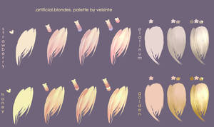 Blondes. Hair palette by Velsinte