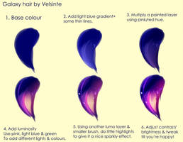 Tutorial - Galaxy hair by Velsinte