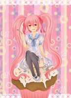 .Toki Contest - Cupcake love. by lNeko-Hime