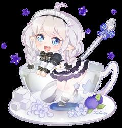 .Lu in a cup. by lNeko-Hime