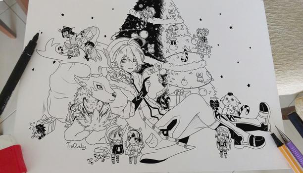 .Merry Christmas-2016. by lNeko-Hime