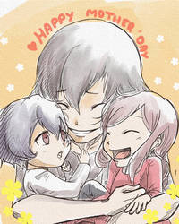 (French) Mother's day with Hana-chan by Myn1990