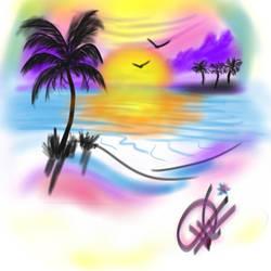 Sunset Airbrush2 by Azorea