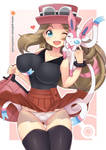 Commission: Serena x Sylveon by virus-g