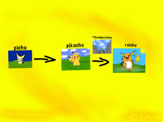 Pikachu evolutions v2 by jomy10