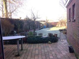 Frozen garden in the morning + terras by jomy10