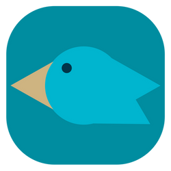 IOS Twitter Icon - FREE (personal use + ...) 4096x by jomy10