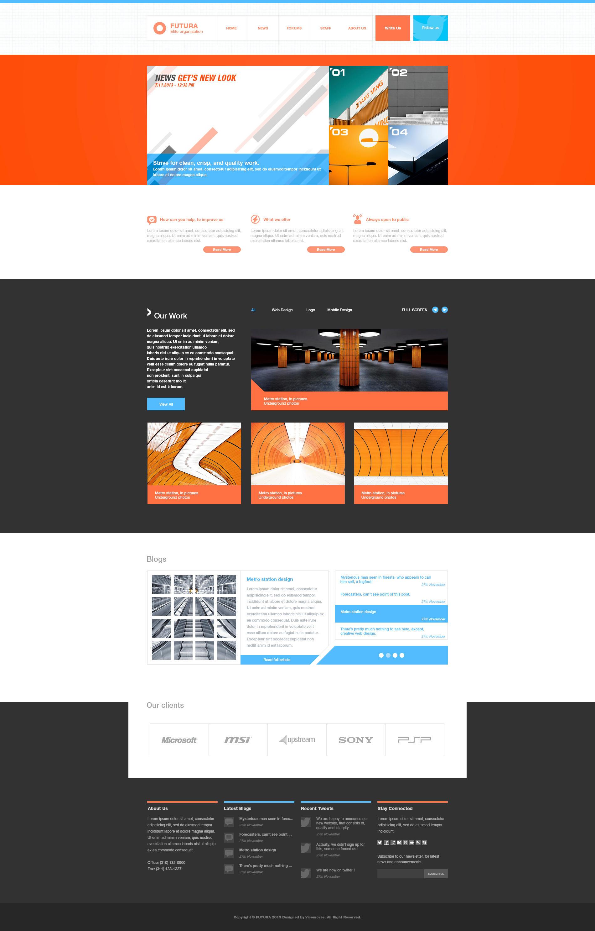 FUTURA Multipurpose web template - For Sale by vertus-design