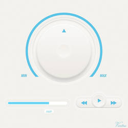 Minimal Media Player Concept GUI by vertus-design