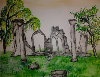 Ruins of an Irish Cathedral by jag140